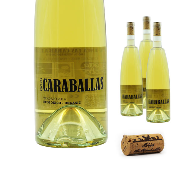 caraballas verdejo ecologico vino blanco botellas