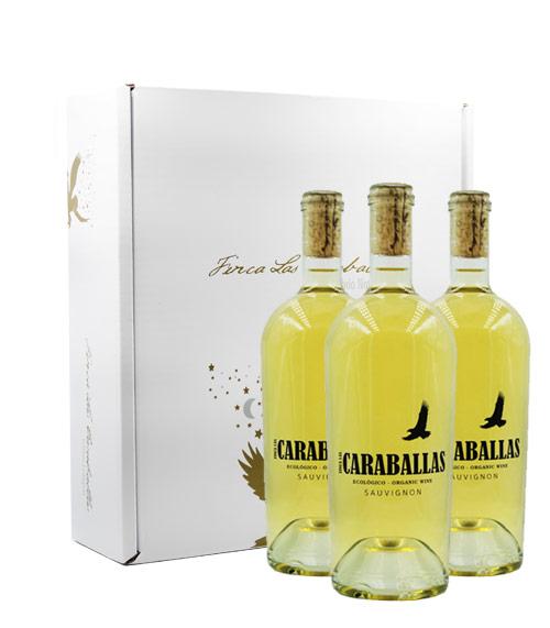 Caraballas Estuche 3 botellas Sauvignon ecológico
