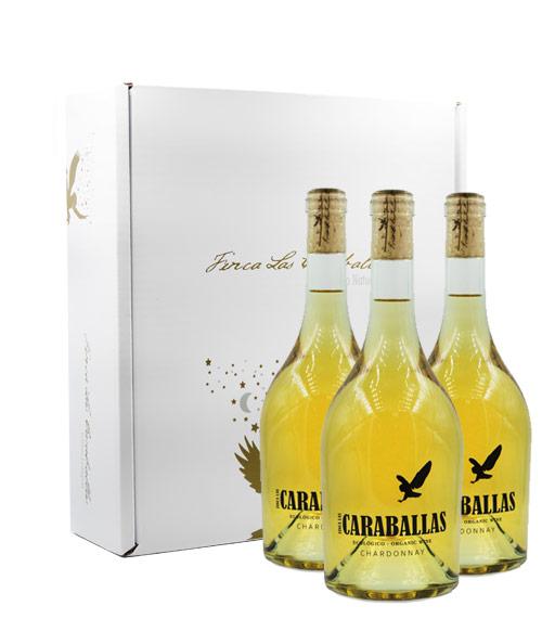 Caraballas Estuche 3 botellas chardonnay ecológico